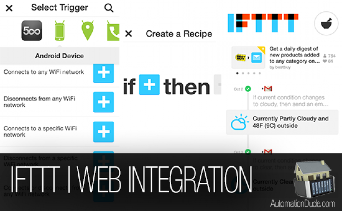 IFTTT Home Automation Recipes